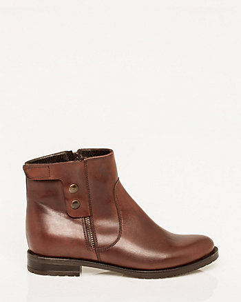 Italian-Made Leather Ankle Boot