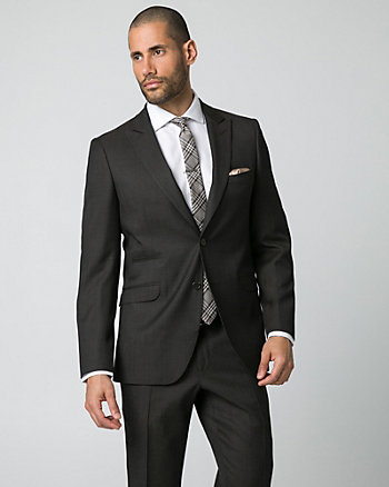 Tonal Wool Piqué Slim Fit Blazer