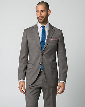 Tonal Wool Piqué Tailored Fit Blazer