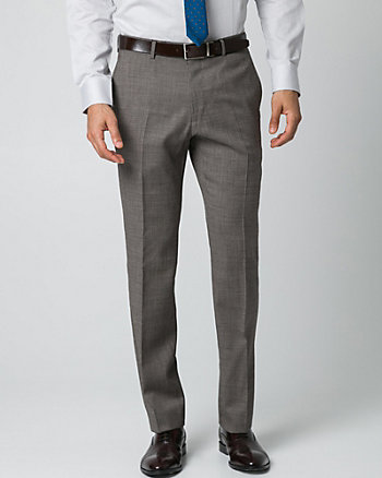Tonal Wool Piqué Slim Leg Pant