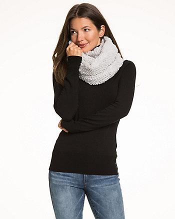 Plush Knit Infinity Scarf