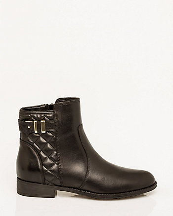 Italian-Designed Leather Ankle Boot