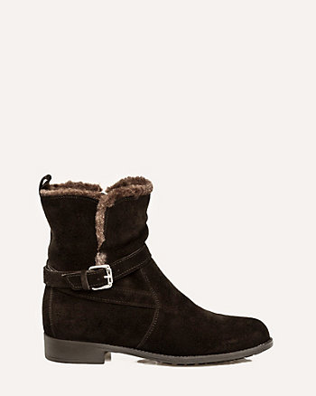 Italian-Designed Suede Ankle Boot