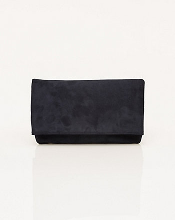 Faux Suede Crossbody Bag