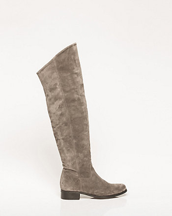 Italian-Made Suede Over-The-Knee Boot