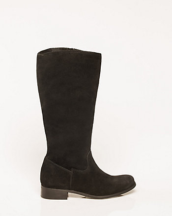 Italian-Made Suede Mid Calf Boot