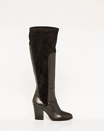 Italian-Made Leather & Faux Suede Boot