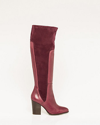 Italian-Made Leather & Suede-Like Boot