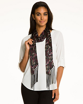 Paisley Print Voile Scarf