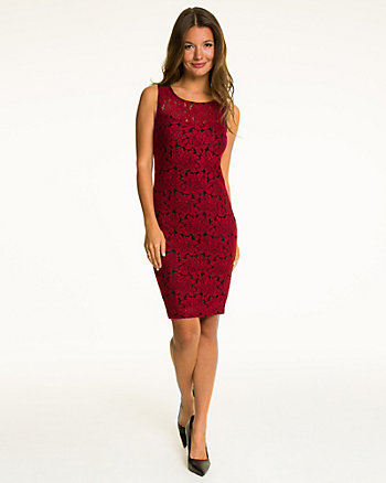 Textured Knit Illusion Cocktail Dress