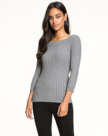 Viscose Blend Rib Sweater