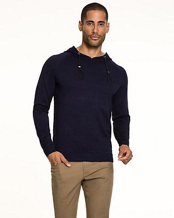 Rayon Blend Henley Sweater