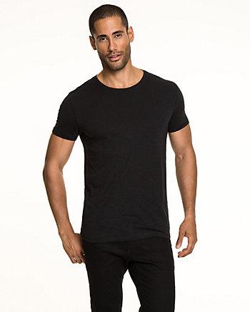 Cotton Slub Crew Neck T-Shirt