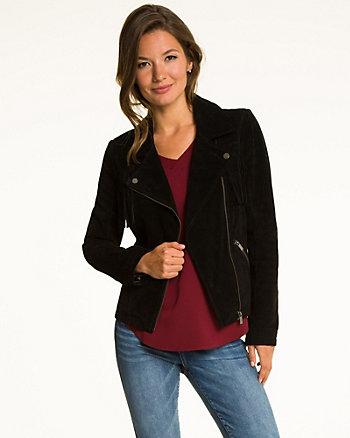 Suede Asymmetrical Fringe Jacket