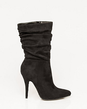 Suede-Like Pointy Toe Boot