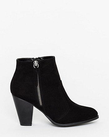 Suede-Like Ankle Boot