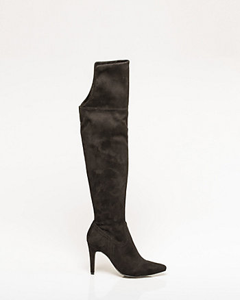 Stretch Suede-Like Over-the-Knee Boot