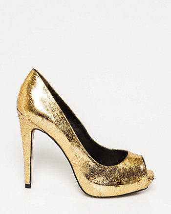 Brazilian-Made Peep Toe Pump