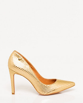 Brazilian-Made Metallic Leather Pump