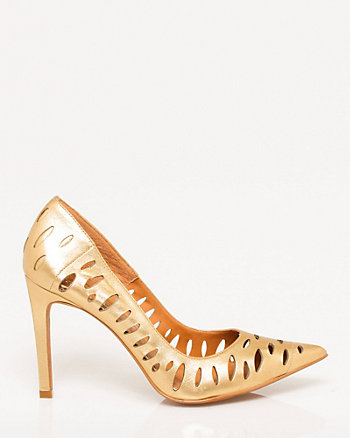 Brazilian-Made Leather Cutout Pump