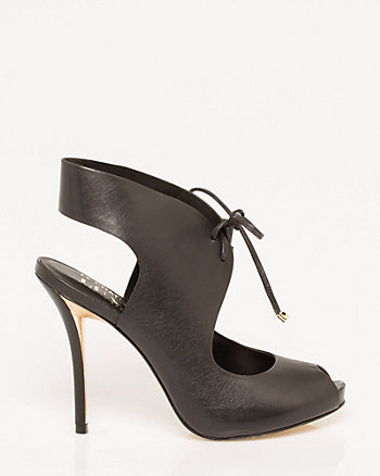Brazilian-Made Leather Tie Shootie