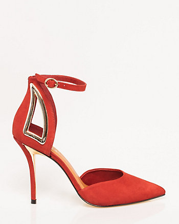 Brazilian-Made Leather Ankle Strap Pump