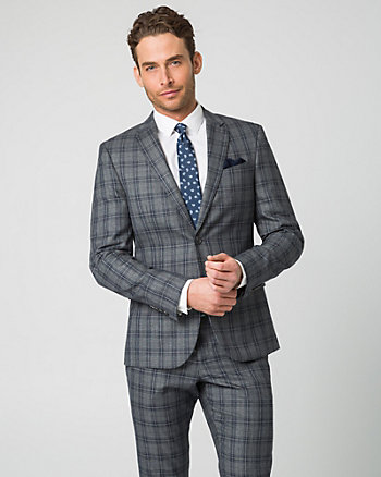 Check Two-Tone Twill Slim Fit Blazer