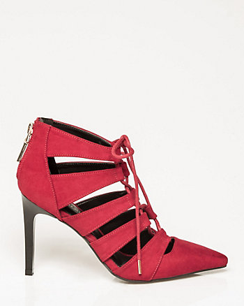 Suede-Like Ghillie Tie Pump