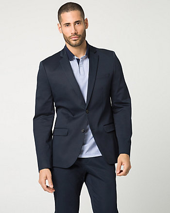 Stretch Sateen Slim Fit Blazer