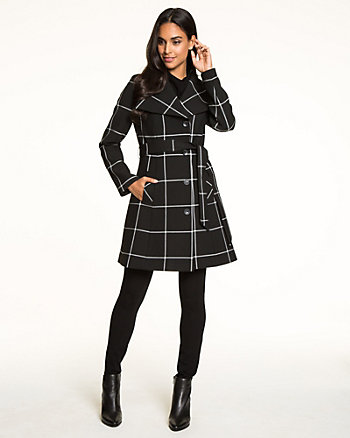 Windowpane Double Weave Coat