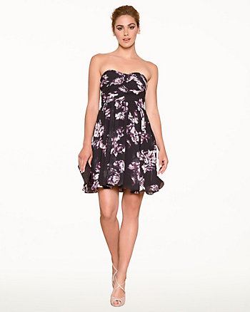 Floral Chiffon Fit & Flare Party Dress