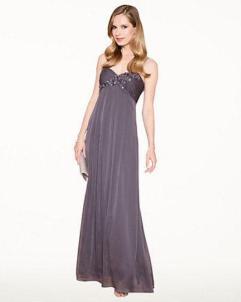 Chiffon Sweetheart Sheath Gown
