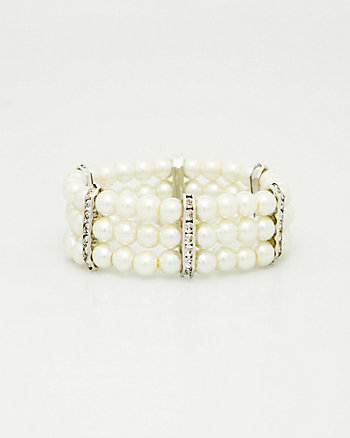 Gem & Pearl-Like Bracelet