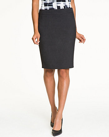 Double Weave Knee Length Skirt