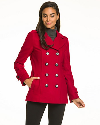 Melton Notch Collar Pea Jacket