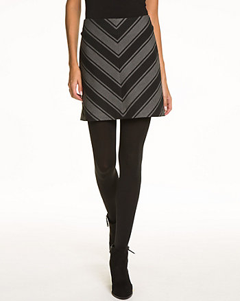 Chevron Print A-Line Mini Skirt