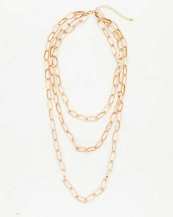 Metal Multi-Strand Chain Necklace