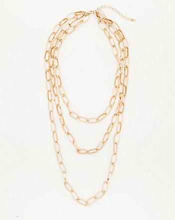 Metal Multi-Strand Chain Necklace