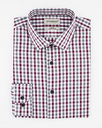 Check Print Cotton Slim Fit Shirt