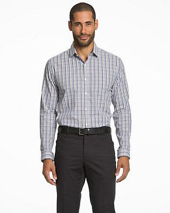 Chemise à motif de carreaux en coton