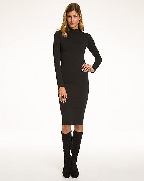 Turtleneck Midi Dress