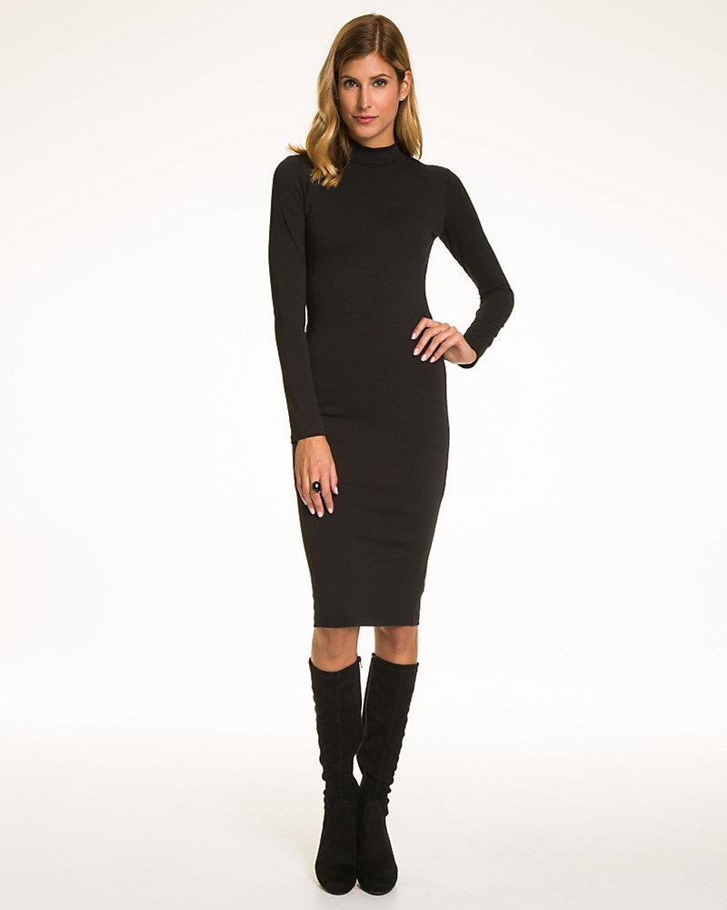 6a252a236a85 Jersey Turtleneck Midi Dress