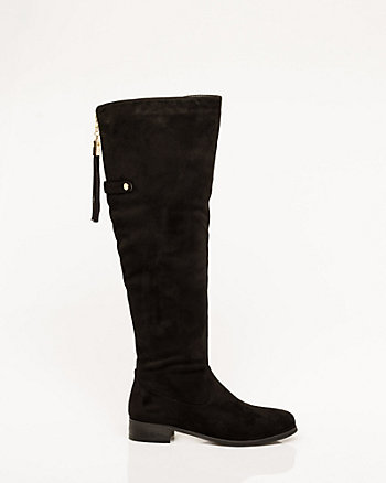 Suede-Like Over-the-Knee Riding Boot