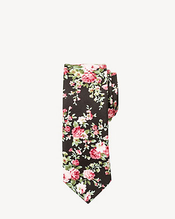 Floral Cotton Skinny Tie