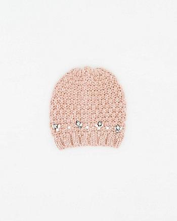 Embellished Knit Beanie