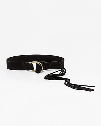 Suede-Like Fringe Belt