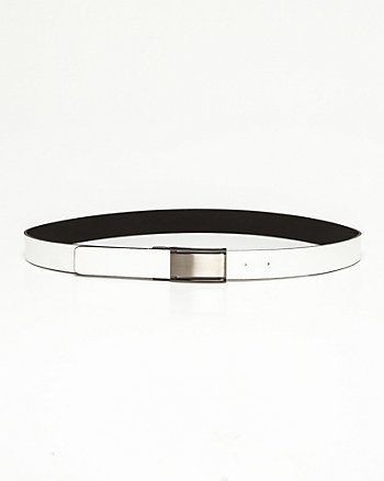 Bonded Leather Reversible Belt