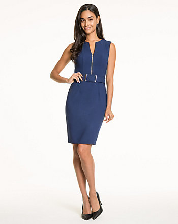 Double Weave V-Neck Dress