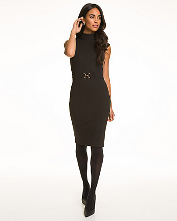 Ponte Mock Neck Dress