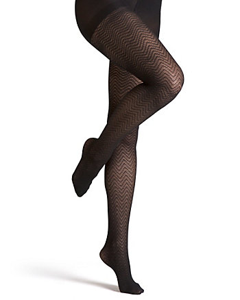 Chevron Print Nylon Tights
